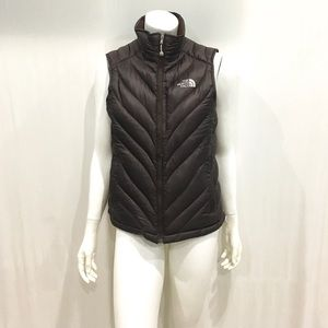 The North Face Womans Brown Puffer Vest